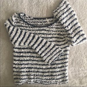 Free People Sweaters - •Free People• Fuzzy Stripe Sweater